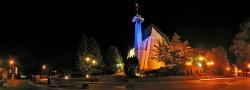 Kościół w centrum miasteczka